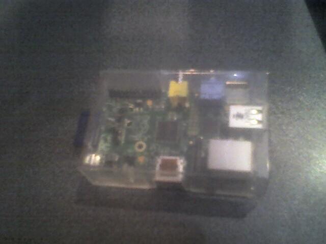Foto: Raspberry Pi in donkere studio tijdens webgang